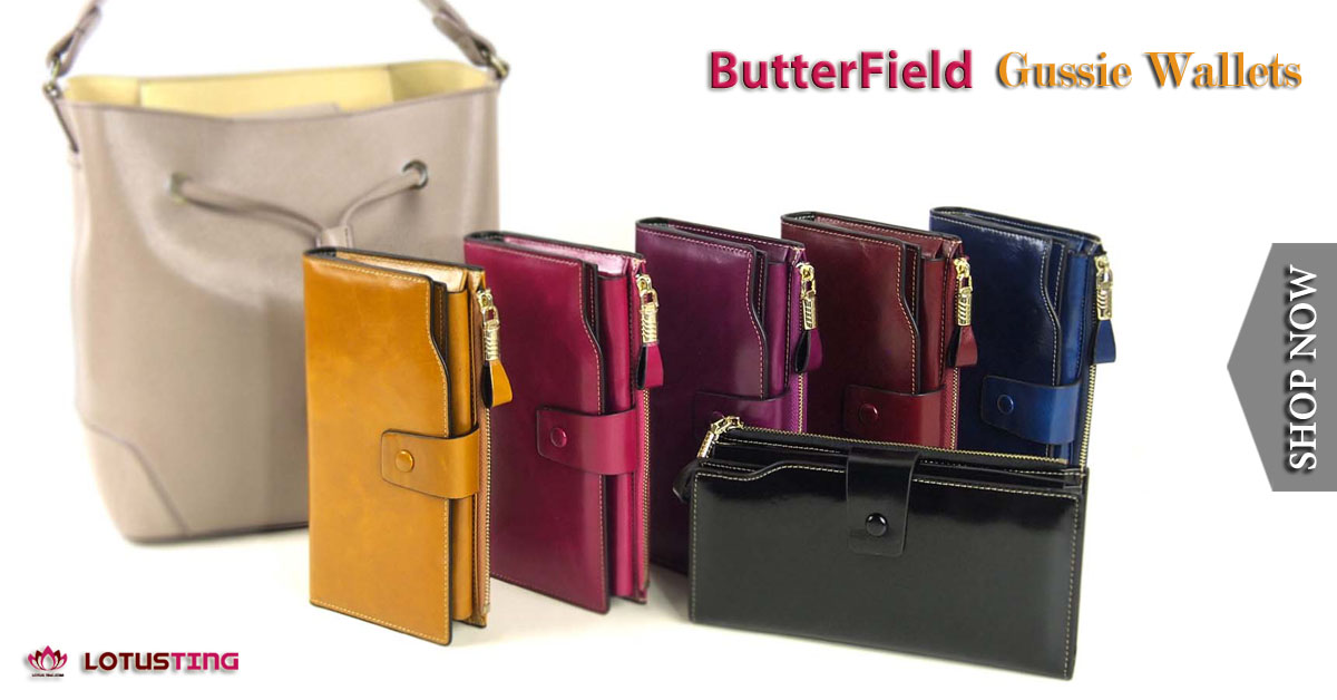 Fabulous Butterfield Gussie Wallets at Lotusting eStore