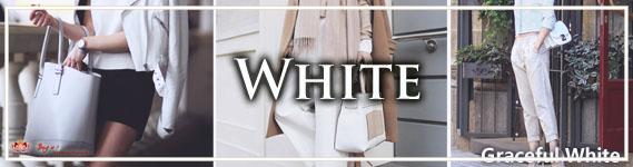 Delightful White Handbags at LotusTing Store