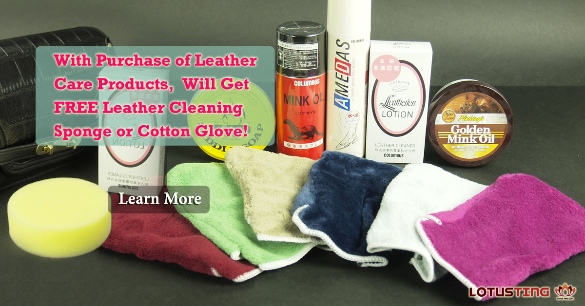 Free Cleaning Sponge or Glove at Lotusting with Bag Purchase