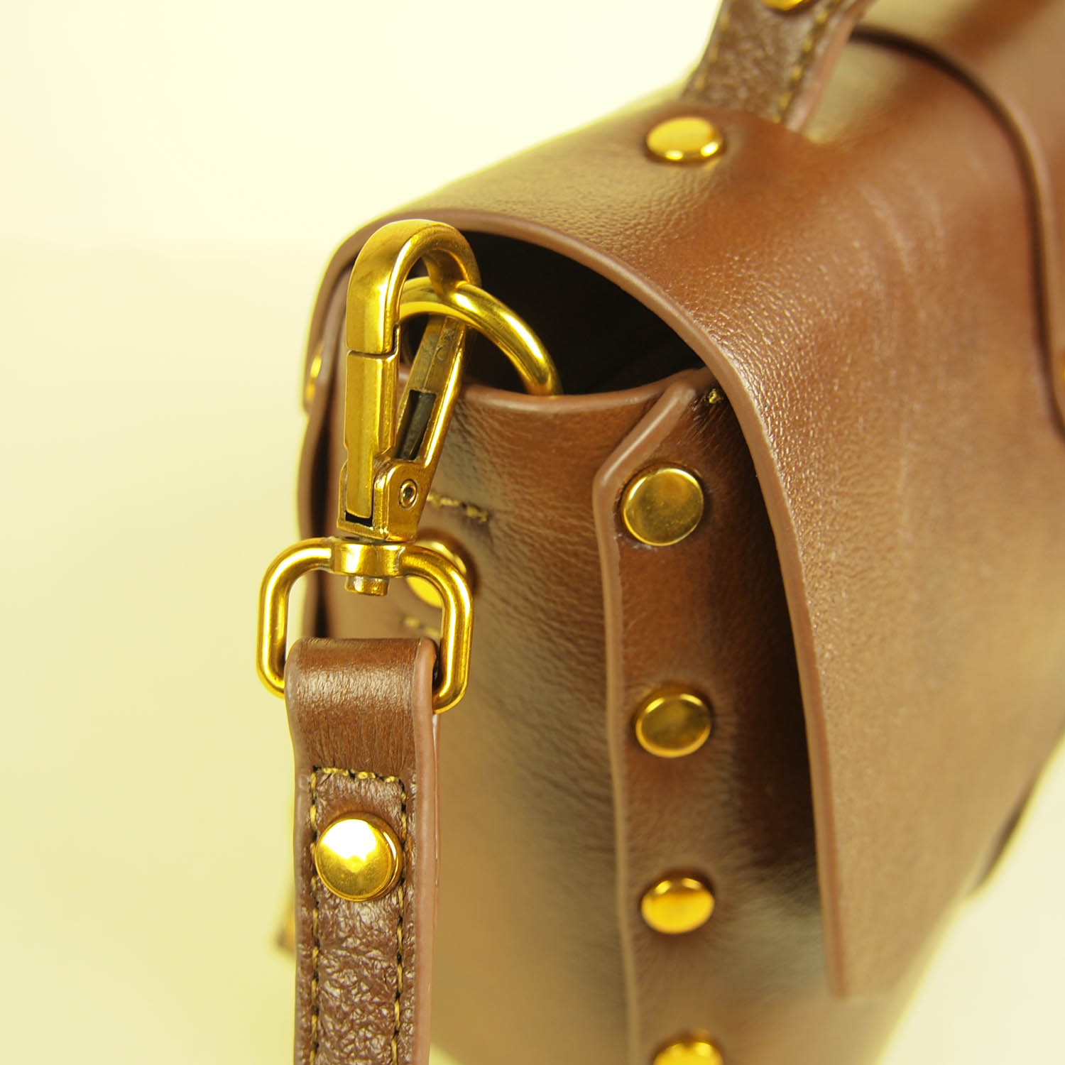 Magnificent Modern Heritage Yaffa Crossbody Studs and Leather