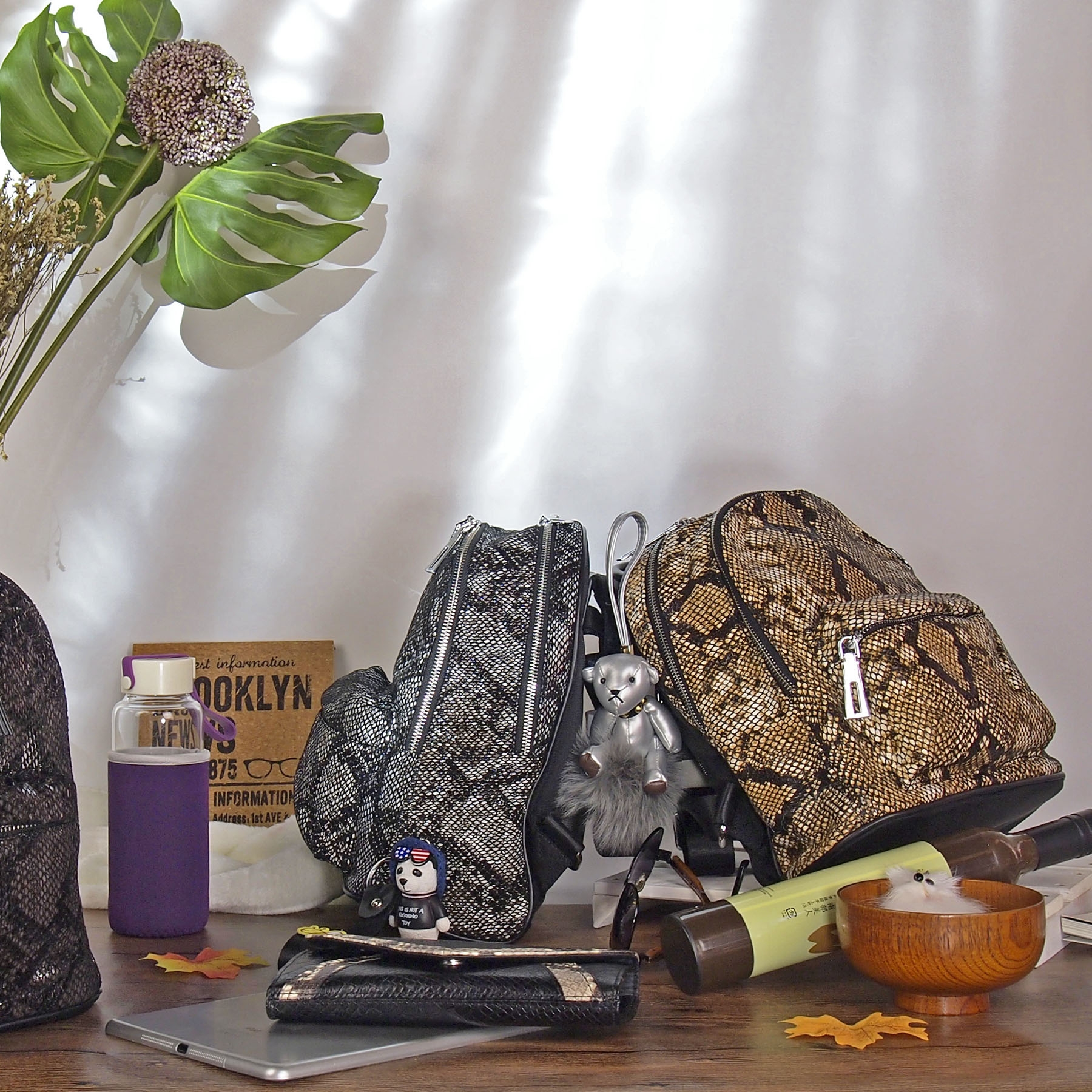 Super Urban Forest bahar Backpack Front View